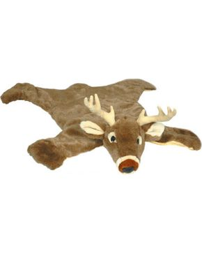 White Tail Deer Plush Rug, Brown, hi-res