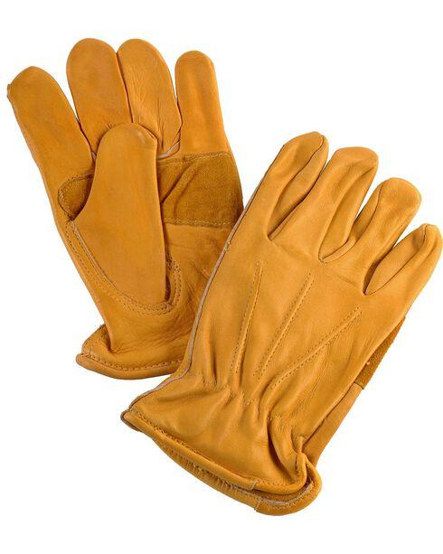 Justin Cowhide Gloves, Tan, hi-res