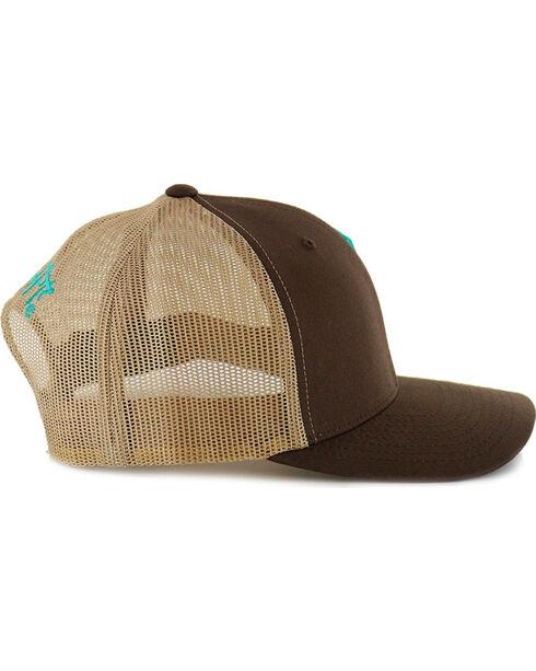 Go Left Men's Longhorn Logo Snap-Back Ball Cap, Brown, hi-res