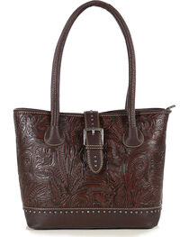 Trinity Ranch Women's Tooled Western Design Concealed Handgun Collection Handbag, , hi-res