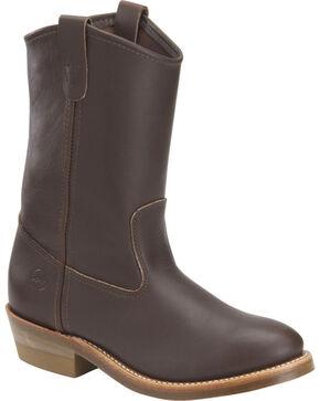 Double-H Men's Ranch Wellington Work Boots, Dark Brown, hi-res