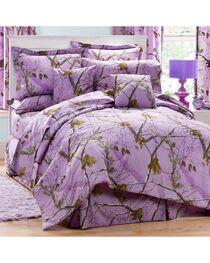 Realtree Lavender Camo Queen Comforter Set, , hi-res