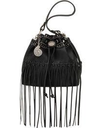 Bandana by American West Black Rio Rancho Drawstring Crossbody Bag, , hi-res