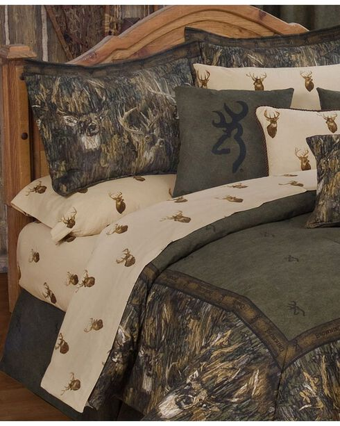 Browning Whitetails Queen Sheet Set, Multi, hi-res
