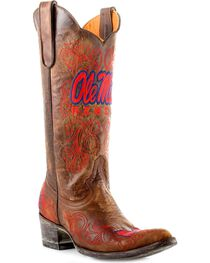 Gameday University of Mississippi Cowgirl Boots - Pointed Toe, , hi-res