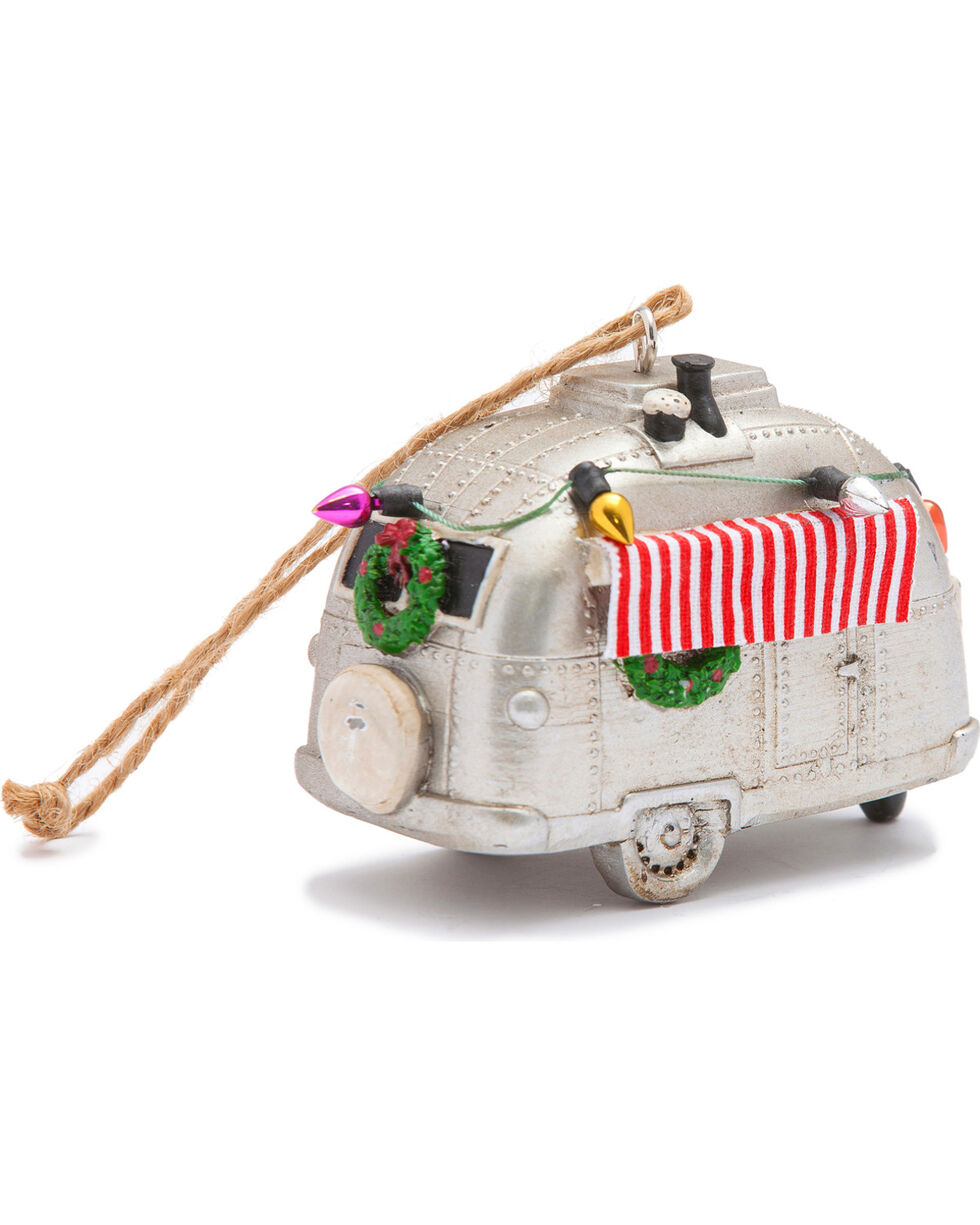 BB Ranch Silver Airstream Christmas Ornament, Silver, hi-res