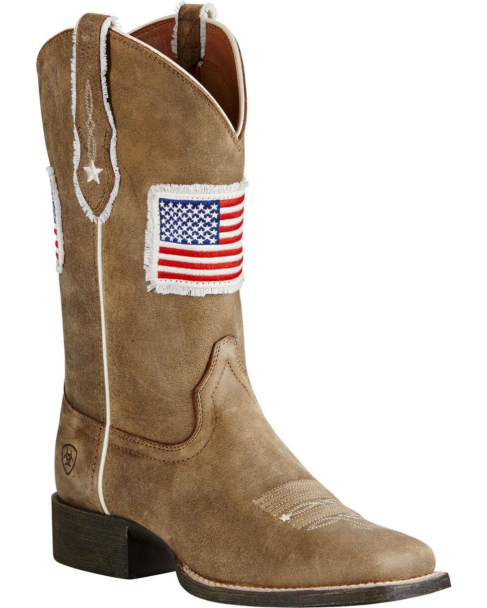 Ariat Women's Patriot Western Boots, Sand, hi-res