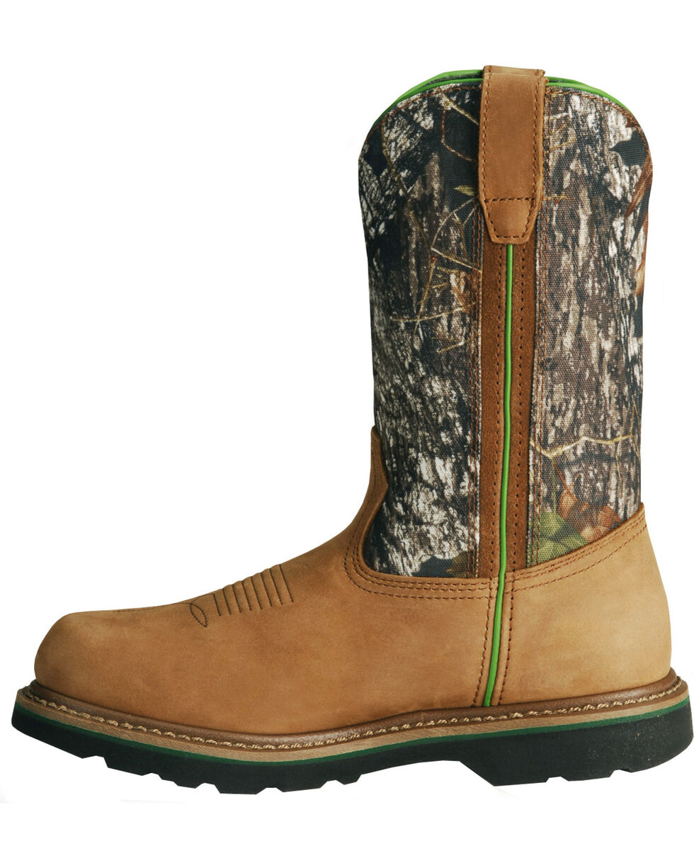 John Deere® Men's Steel Toe Mossy Oak Wellington Boots, Tan, hi-res