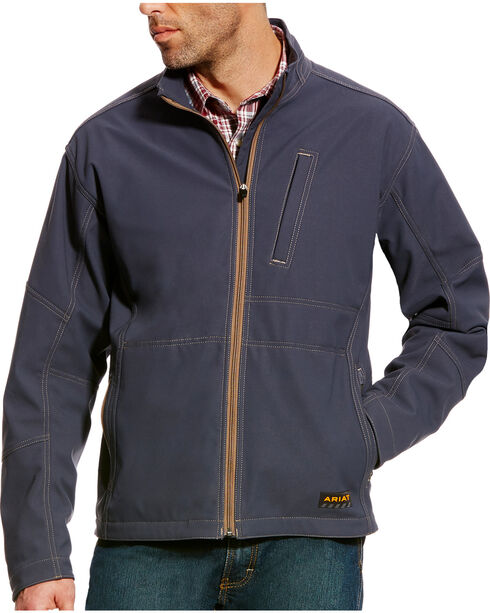 Ariat Men's Rebar Canvas Softshell Jacket , Grey, hi-res