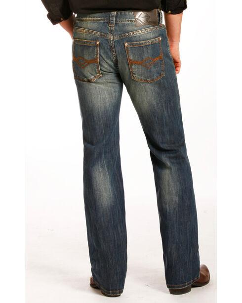 Rock & Roll Cowboy Men's Indigo Reflex Pistol Jeans - Straight Leg , Indigo, hi-res