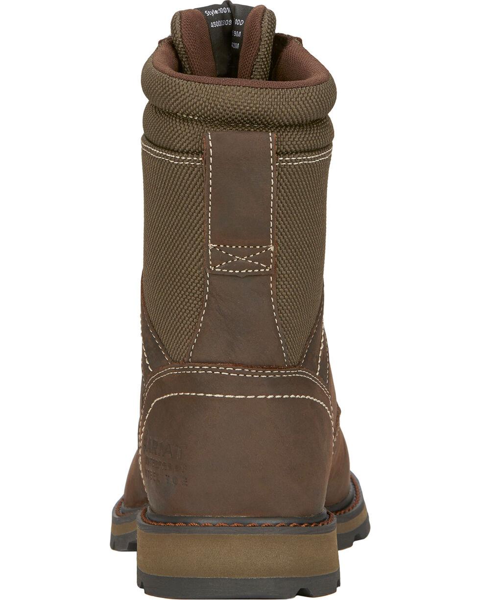 """Ariat Men's 8"""" Groundbreaker Waterproof Steel Toe Work Boots, Dark Brown, hi-res"""