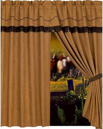 HiEnd Accents Barbwire Curtain with Attached Valance, , hi-res