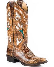 Stetson Women's Vintage Tulip Underlay Western Boots, , hi-res