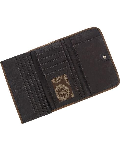 American West Women's Kachina Spirit Tri-Fold Wallet, , hi-res