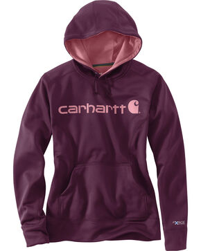 Carhartt Women's Signature Graphic Hoodie, Purple, hi-res