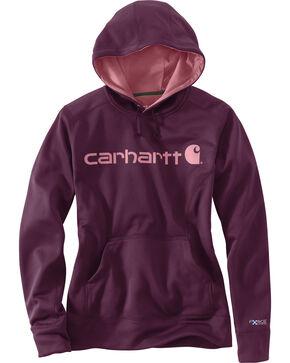 Carhartt Women's Signature Graphic Hoodie, Purple, hi-res