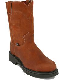 "Justin Men's Original 10"" Pull-On Work Boots, , hi-res"