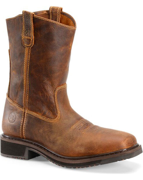 Double H Men's Distressed Composite Toe Western Work Boots, , hi-res