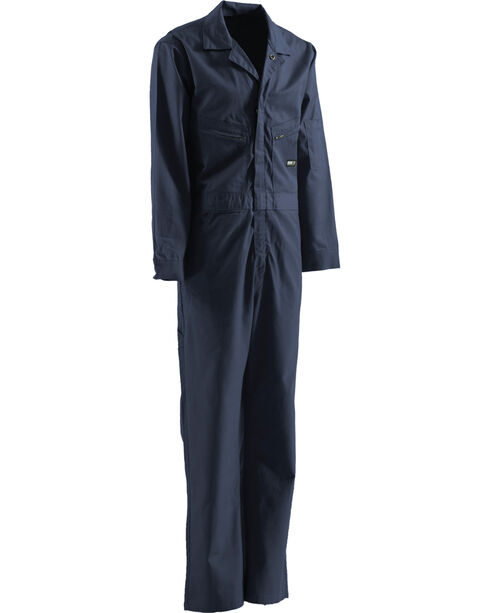 Berne Flame Resistant Deluxe Coveralls - Tall Sizes, Navy, hi-res