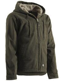 Berne Washed Hooded Work Coat - XLT and 2XT, , hi-res