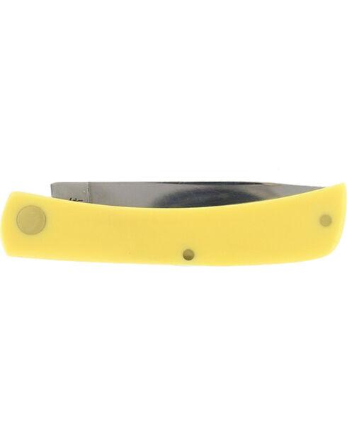 W.R. Case & Sons Yellow Delrin Sod Buster Jr. Pocket Knife, Multi, hi-res