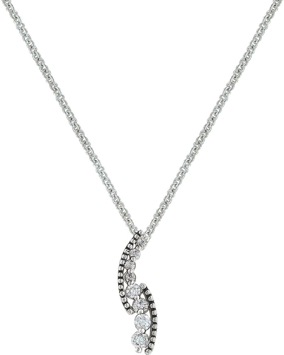 Montana Silversmiths Women's Sparkling Pathway Necklace , Silver, hi-res