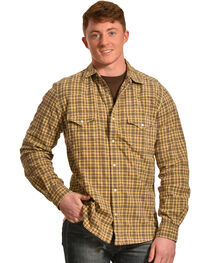 Ryan Michael Men's Dobby Plaid Shirt, , hi-res