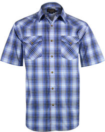 Pendleton Men's Frontier Short Sleeve Shirt , Blue, hi-res