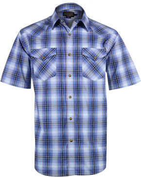 Pendleton Men's Frontier Short Sleeve Shirt , Blue, hi-res