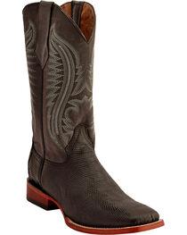 Ferrini Men's Lizard Belly Western Boots - Square Toe , , hi-res