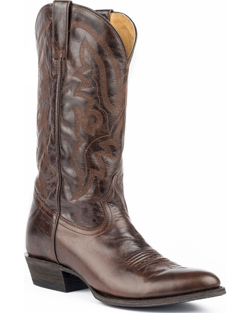 Roper Men's Cassidy Brown Marbled Cowboy Boots - Round Toe, Brown, hi-res