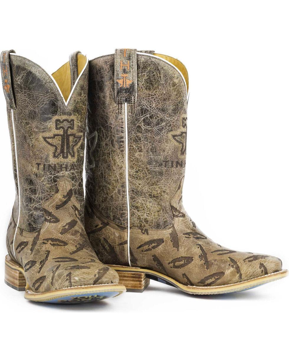 Tin Haul Men's Diamond Plate Western Boots, Tan, hi-res