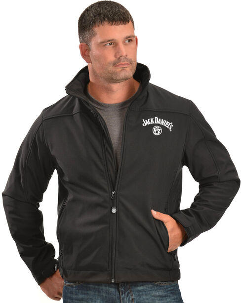 Jack Daniel's Men's Softshell Zip-Up Jacket, Black, hi-res