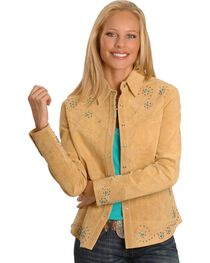Scully Women's Boar Suede Long Sleeve Western Shirt, , hi-res