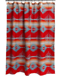 Carstens Red Branch Shower Curtain, , hi-res