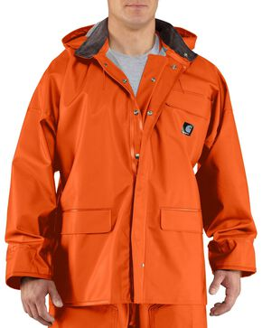 Carhartt Surrey Rain Coat - Big & Tall, Orange, hi-res