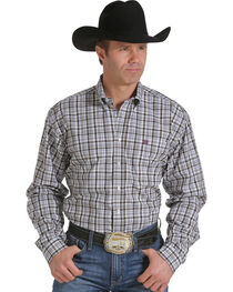 Cinch Men's Grid Plaid Long Sleeve Shirt, , hi-res
