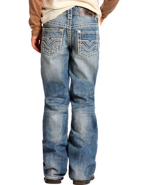 Rock & Roll Denim Boy's Boot Cut Jeans, Blue, hi-res