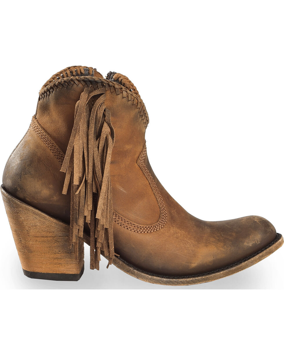 Liberty Black Women's Vegas Faggio Short Boots - Round Toe , Brown, hi-res