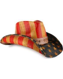 Cody James® American Flag Straw Western Hat, , hi-res