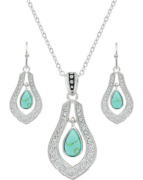 Montana Silversmiths Women's Silver School Of Nature Jewelry Set , Silver, hi-res