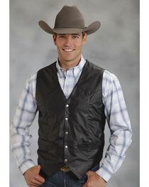 Roper Men's Faux Leather Western Vest, , hi-res