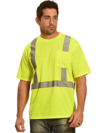 American Worker Men's Short Sleeve High Visibility T-Shirt Big and Tall, , hi-res