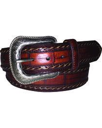 G Bar D Men's Brown Croc Print Belt, , hi-res