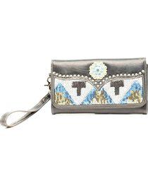 Blazin' Roxx Women's Sequin Aztec Wallet, , hi-res
