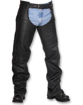 Interstate Leather Unisex Chaps, Black, hi-res