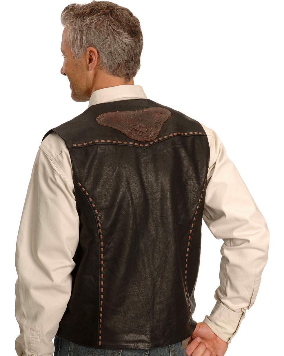 Kobler Tooled Leather Vest, Black, hi-res
