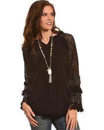 Angel Premium Women's Black Lucinda Tunic , , hi-res