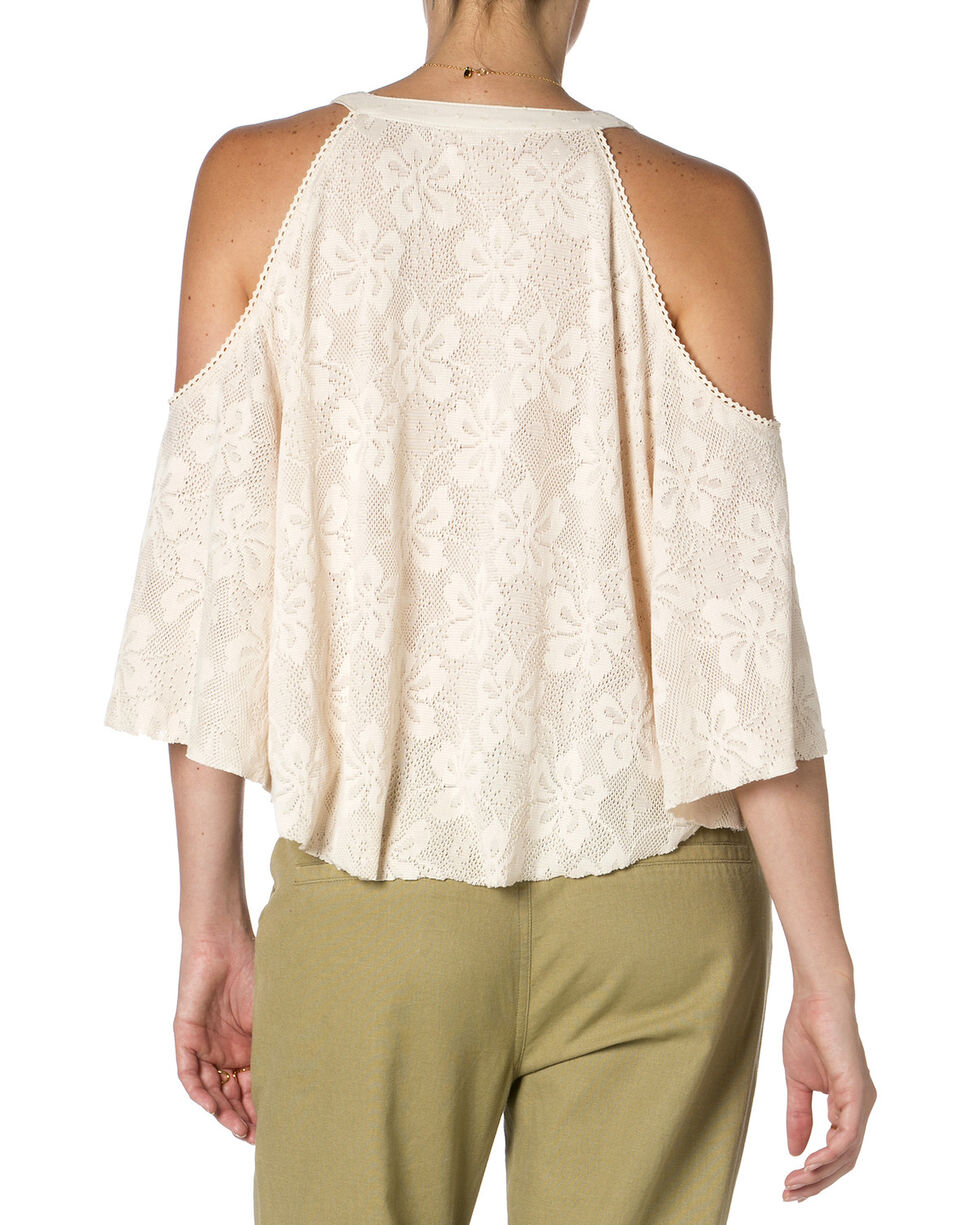 Miss Me Open Shoulder Cream Top, Cream, hi-res
