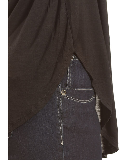 Derek Heart Women's Deep V-Neck Oversize Tee - Plus Size, Black, hi-res